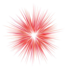 abstract red explosion blast background vector image