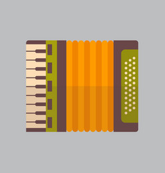 accordion icon oktoberfest festival concept vector image