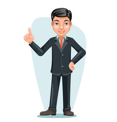 Asian businessman chinese japanese vietnamese male vector