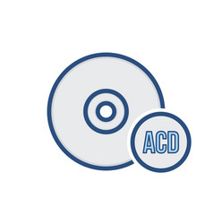 Audio cd compact disk drive storage icon vector
