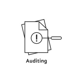 Auditing with thin line document vector