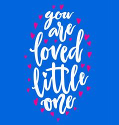 baby nursery handwritten lettering vector image