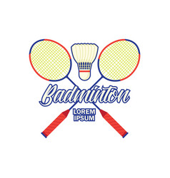 Badminton logo with text space for your slogan vector