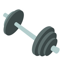 barbell icon cartoon style vector image
