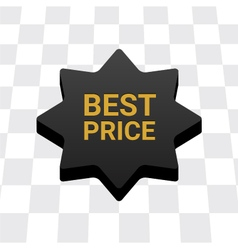 Best price button vector image