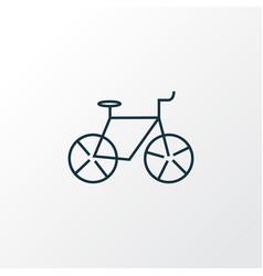 bicycle icon line symbol premium quality isolated vector image