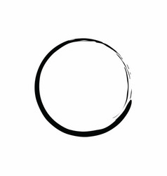 Black circle zen design vector
