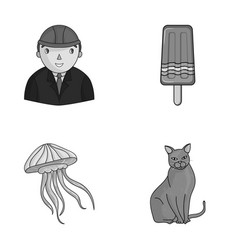 breed builder and other monochrome icon in vector image
