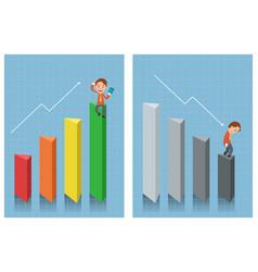 businessman looking at chart vector image