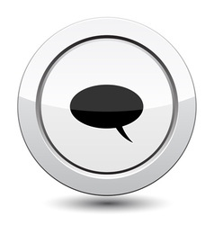 Button with Comment Icon vector