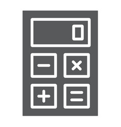 calculator glyph icon office and work vector image