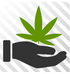Cannabis offer palm eps icon vector