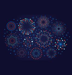 celebration 4th july usa fireworks festival vector image