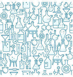 chemistry science lab seamless pattern background vector image