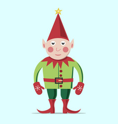 Christmas elf standing vector