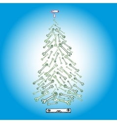 Christmas tree tools vector image
