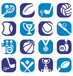 Color sports icons vector
