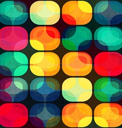 colored tiles seamless pattern with grunge effect vector image