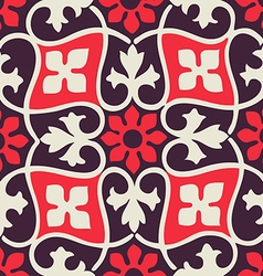 Colorful seamless floral patterns vintage vector