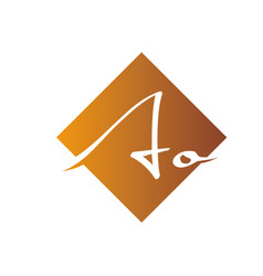 Creative initial letter ao square logo design vector
