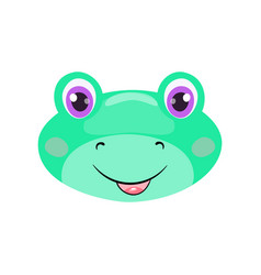 cute frog face or mask vector image