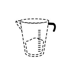 Dotted shape jar measures kitchen utensil object vector