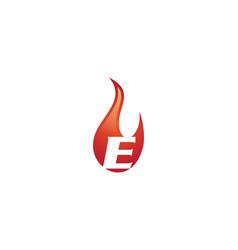 e letter flame logo vector image