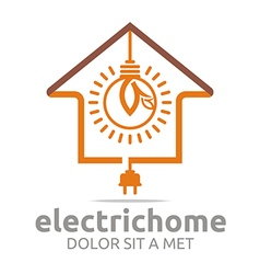 electric home light energy bright symbol vector image