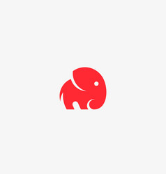 elephant logo design animal icon logotype vector image