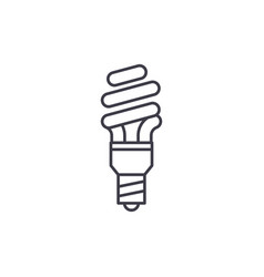 energy saving line icon concept energy saving vector image