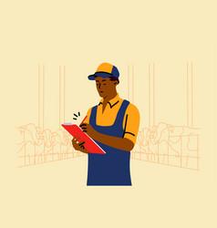 examination farming occupation work concept vector image