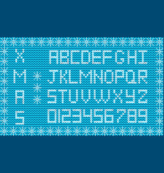 fabric christmas or new year script knit festive vector image