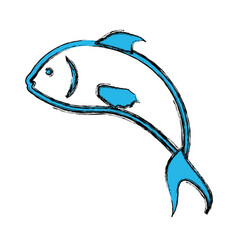 Fish sea animal symbol vector