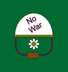 Flat icon design collection no war military helmet vector