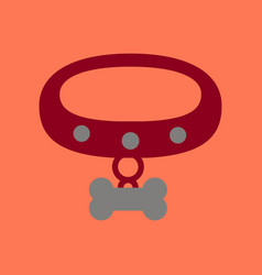 flat icon on background dog collar vector image vector image