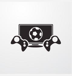Football game icon vector