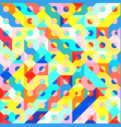 Fun fashion geometric pop art 1980 style pattern vector