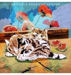 Funny Kittens vector image