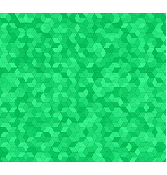 Green 3d cube mosaic pattern background design vector image