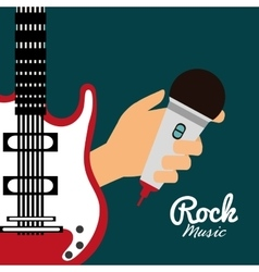 Guitar music sound instrument vector