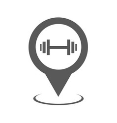 gym map pointer icon simple vector image