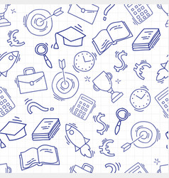 Hand drawn business seamless pattern vector