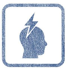 Headache fabric textured icon vector