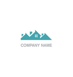 house realty roof business company logo vector image
