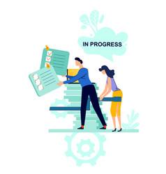 in progress business concept vector image