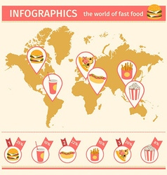 infographic consumption of fast food around vector image