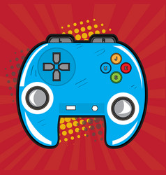 isolated videogame joystick vector image
