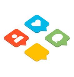 like follower comment set vector image