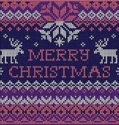 Merry christmas scandinavian seamless vector
