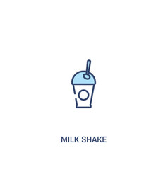 Milk shake concept 2 colored icon simple line vector